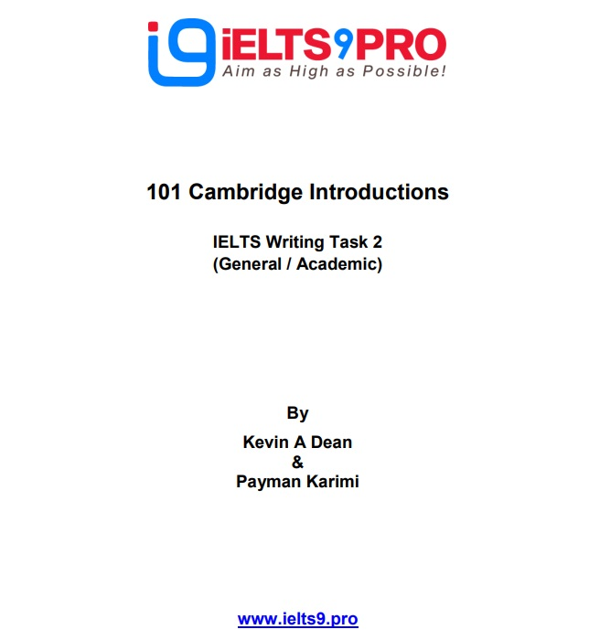 کتاب 101 مقدمه کمبریج از سری کتاب های آیلتس کمبریج